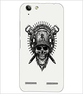PrintDhaba Skull Designer D-1205 Back Case Cover for LENOVO LEMON 3 (Multi-Coloured)