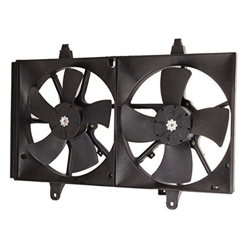 Partsam Dual Condenser Radiator Cooling Fan For Nissan Maxima 21481-Ca000
