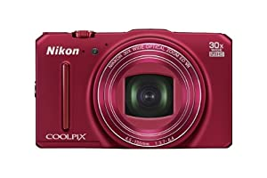 Nikon COOLPIX S9700 16.0 MP Wi-Fi Digital Camera with 30x Zoom NIKKOR Lens, GPS, and Full HD 1080p Video (Red)