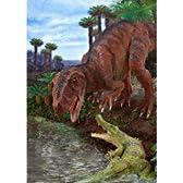 【 3Dカード / 恐竜 】水辺のフクイラプトル 福井県立恐竜博物館 監修