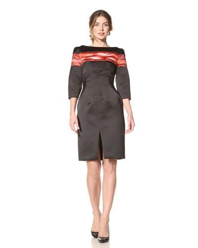 Thakoon Women's Neon Beam Print Duchesse Dress  - Black