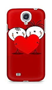 Amez designer printed 3d premium high quality back case cover for Samsung Galaxy S4 (Heart valentines day)