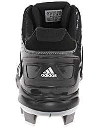 pictures of adidas Performance Men's PowerAlley 2 Mid Baseball Cleat, Black/Carbon, 10 M US