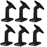Videosecu 6 Black Universal Satellite Studio Speaker Mounts / Brackets for Walls and Ceilings 1UP