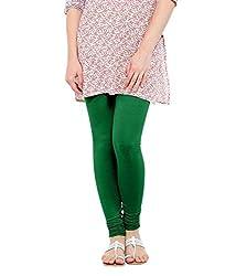 Lard Women's Cotton Leggings (Lard5_Light Green_Free size)