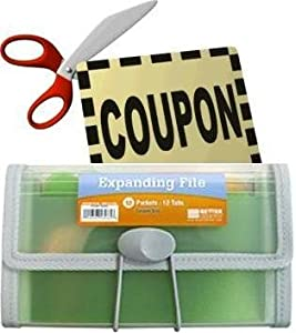 Coupon Organizer and Holder - Clear -13 Pockets