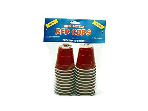 Wee Little Mini Red Cup Shot Glasses - Pack of 20 (Mini Solo Cups compare prices)