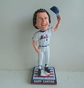 Gary Carter New York Mets Cooperstown Collection HOF Logo Base Bobble Head by My Sports Shop