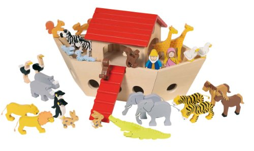 Goki Wooden Noahs Ark Set