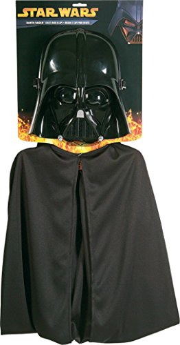 Boys Darth Vader Mask And Cap Kids Child Fancy Dress Party Halloween Costume