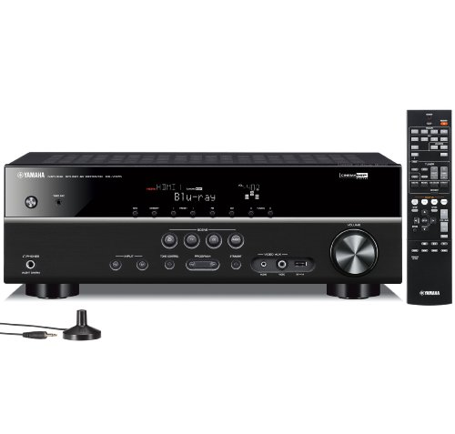 Yamaha RX-V375 5.1 Channel 3D A/V Home Theater Receiver (Black)