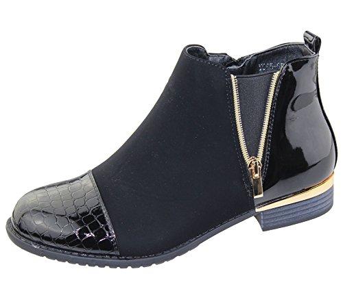 womens-ankle-boots-ladies-black-desert-crocodile-print-zipped-high-top-trainer-winter-shoes-size-eu-