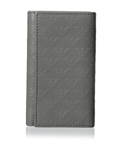 Emporio Armani Men's Gray Leather Key Ring, Grey