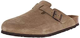 Birkenstock Women\'s Boston Soft Footbed Clog,Taupe Suede,45 M EU