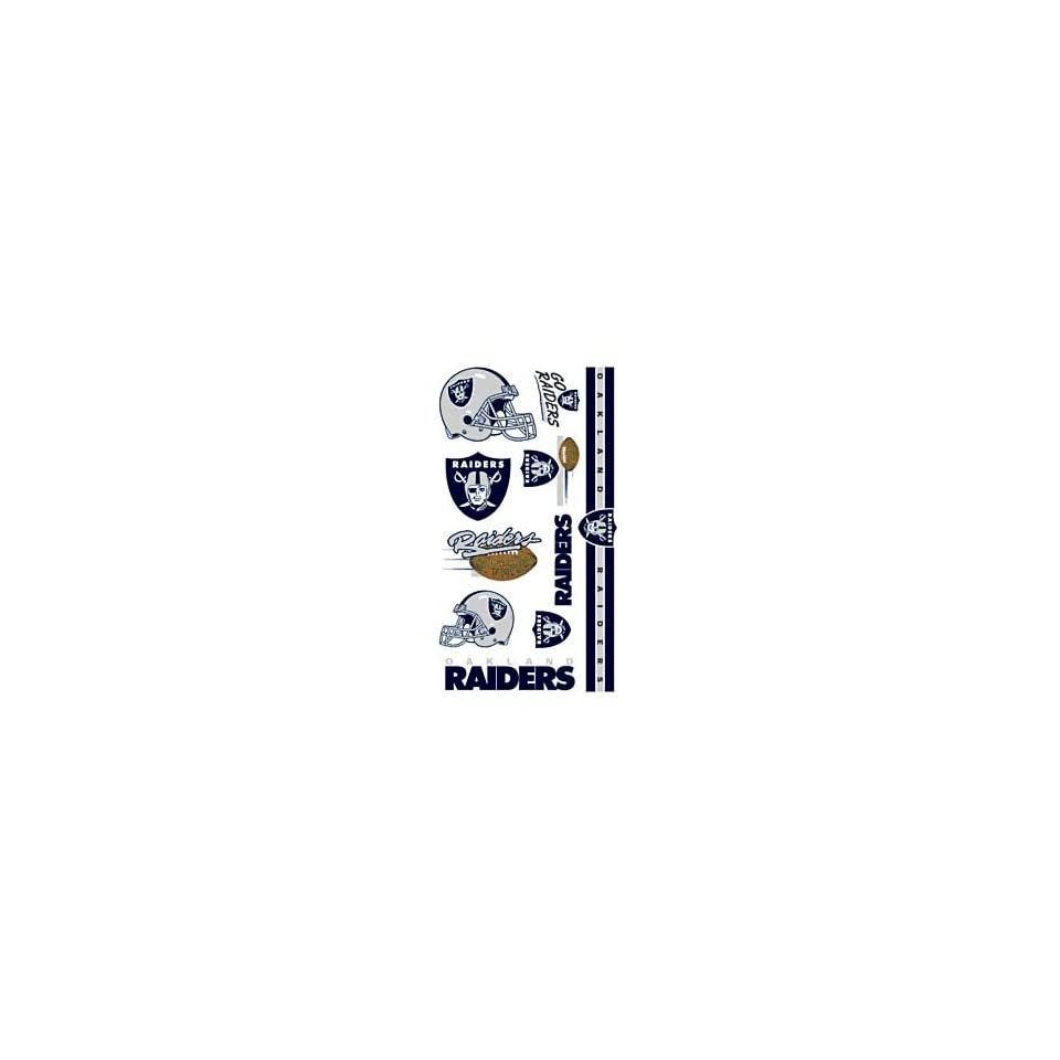 Oakland Raiders Nfl Temporary Tattoos Wincraft 09394021  Sports Related Merchandise  Sports & Outdoors