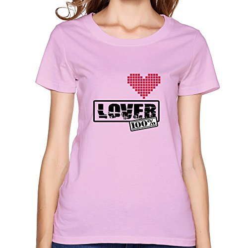 Customize Women Lover Best Graphic Brand New T Shirts Size M Pink