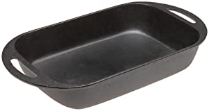Old Mountain Pre Seasoned 10162 Rectangle Baking Pan, 8 3/4 Inch x 16 Inch
