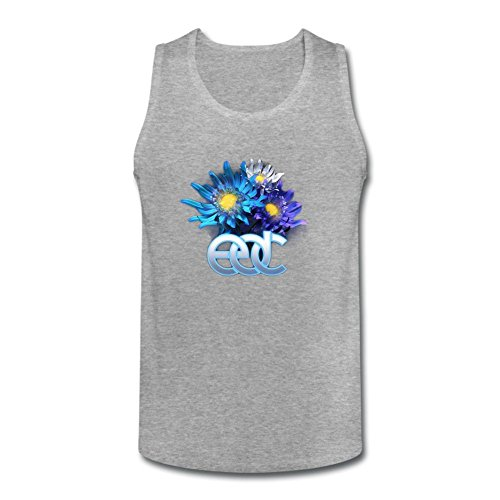 SUNRAIN Men's 2016 Electric Daisy Carnival EDC Logo Tank Top