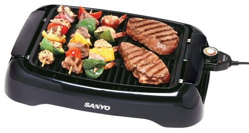 Sanyo HPS-SG2 Indoor Barbeque Grill with 120-Square-Inch Nonstick Cooking Surface