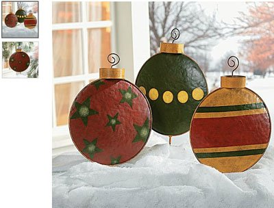 Giant Christmas Tree Ornament Garden Decor Yard Stakes Outdoor