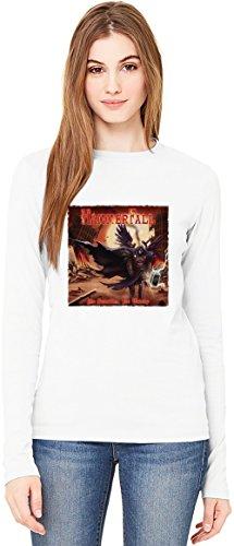 HammerFall Album T-Shirt da Donna a Maniche Lunghe Long-Sleeve T-shirt For Women| 100% Premium Cotton Ultimate Comfort X-Large