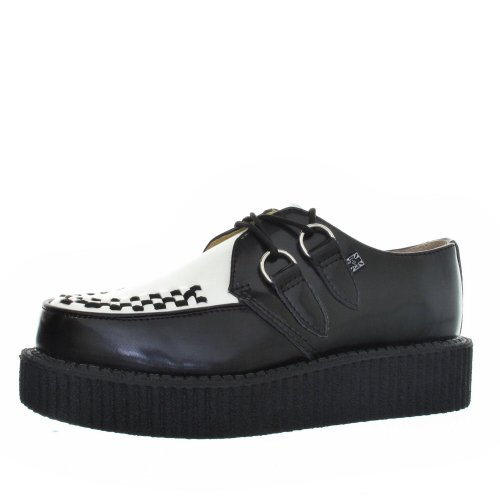 TUK Mondo Hi Black White Creepers Mens Women Size 7