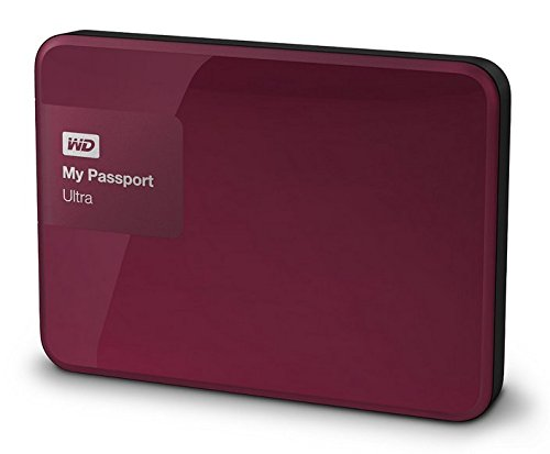 Western Digital 500GB wildkirsche My Passport Ultra tragbare externe Festplatte – USB 3.0 – WDBWWM5000ABY-EESN