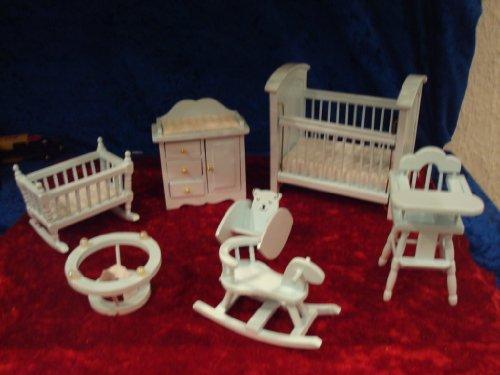 miniaturentraum2013 Esszimmerstuhl mit Armlehnen - Holz - Puppenhaus
