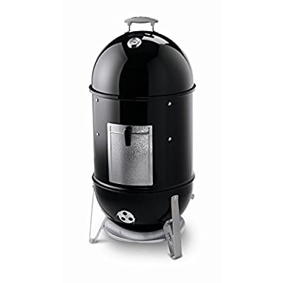 Weber Smokey Mountain Cooker Smoker 41-in H x 19-in W 481-sq in Black Porcelain-Enameled Charcoal Vertical Smoker