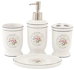 61984 clayre eef set di bagno set dosatore portasapone appoggio bicchiere per - Amazon accessori bagno ...