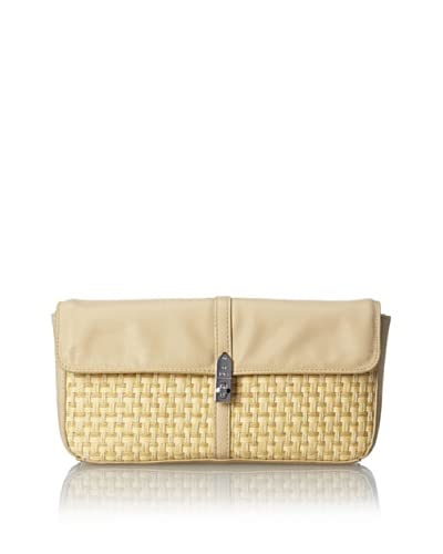 French Connection Women's Beach Basket Clutch, Bisquit