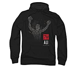 Muhammad Ali 70 Arms Raised Pull Over Hoodie