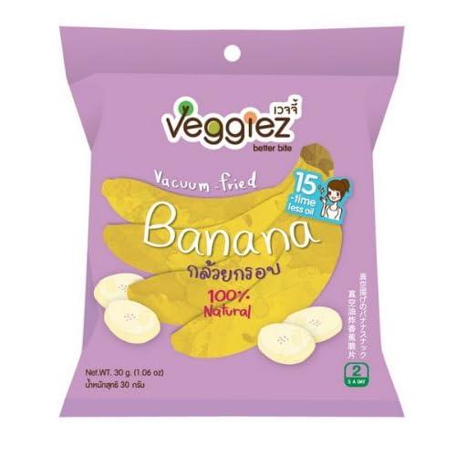 Vacuum fried banana chips