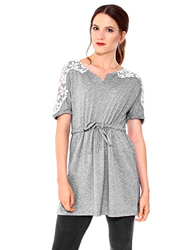 Simplicity Ladies Lace Floral Grey Short Sleeve Party Cocktail Dress, XXL