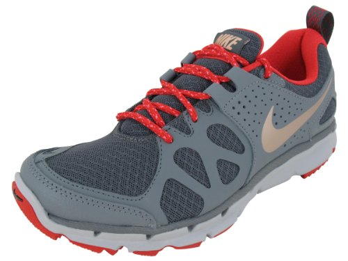 Nike Women's NIKE FLEX TRAIL WMNS RUNNING SHOES 10 Women US (DRK GRY/MTLC RD BRNZ/CL GRY/WL)