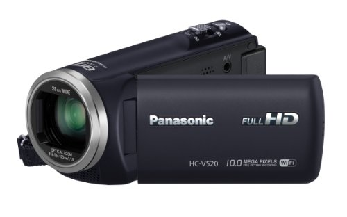 Panasonic HC-V520 HD Digital Camcorder with 80x Zoom and Wi-fi (Black)