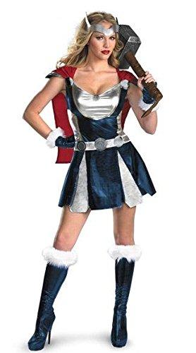 mesdames-3-piece-sexy-super-hero-thor-viking-costume-taille-38-42-robe-avec-cap-manches-et-ceinture
