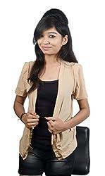 EEIA Women's Beige Embellished Top