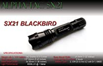ExtremeBeam SX21 Blackbird with Raised Button High-Output Precision LED Tactical Flashlight (6,000 LUX)