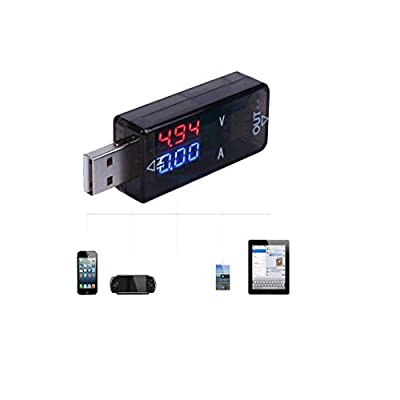 LED Current And Voltage Tester USB Charging Monitor For iPhone Galaxy