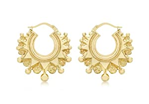 Carissima 9ct Yellow Gold Aztec Large Earrings