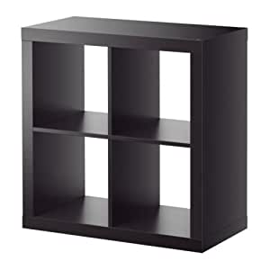 Ikea kallax 4 shelving unit black brown kitchen dining - Kallax 4 cases ...