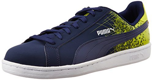 Puma Puma Smash FR, Unisex-Erwachsene Sneakers, Blau (peacoat-sulphur spring 03), 43 EU (9 Erwachsene UK) thumbnail