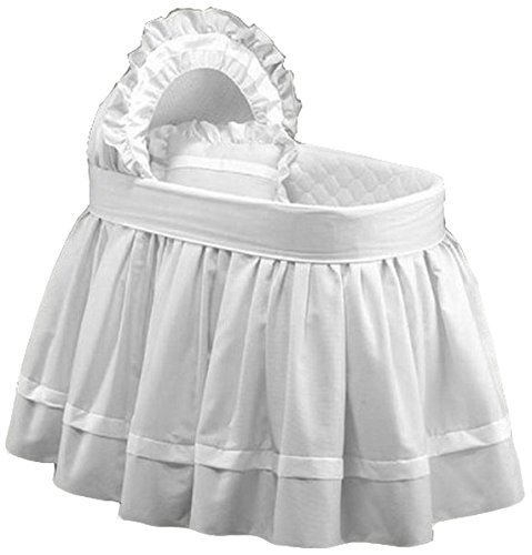Baby Doll Regal Pique Bassinet Bedding, White