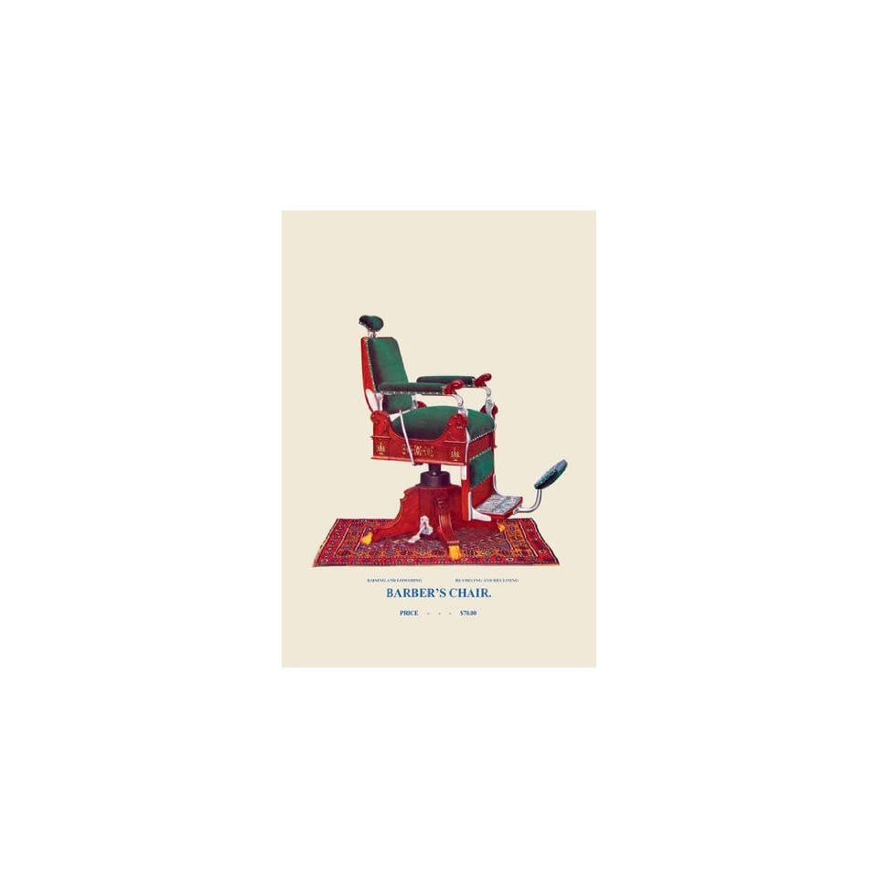 Hydraulic Barbers Chair #94 20x30 poster