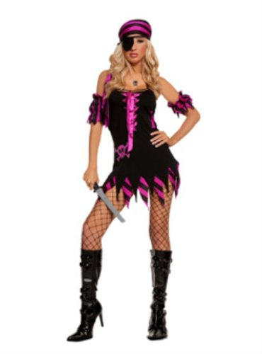 Elegant Moments Shipwrecked Wench-4 pc. Costume includes dress, arm bands, he...