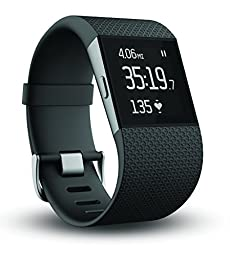 Fitbit Surge Fitness Superwatch, Black, Small