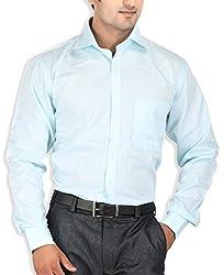 SPEAK Blue Checks Cotton Mens Formal Shirt