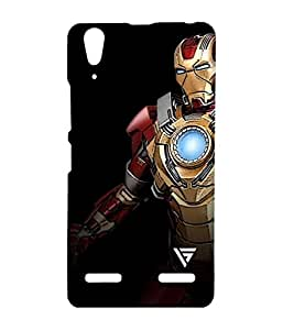 Vogueshell Iron Man Printed Symmetry PRO Series Hard Back Case for Lenovo A6000