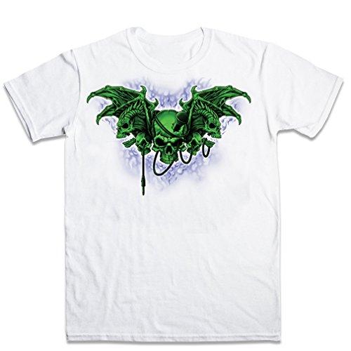 FPD - Demon Wings Skulls Mens T-shirt XS-XXL Bianca XXL